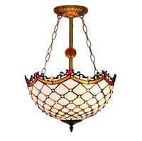 천장 램프 고전 그린 메쉬 유리 샹들리에 레트로 유럽 스타일 거실이 TF21 램프 동화 라운드 침실 램프 조각
