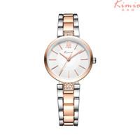 Kimio Dünne Uhr Einfache Relogio Feminino Rose Gold Quarz Kleid Damen Armband Damenuhren Armbanduhr Für Mädchen Kw6133 Y19062402