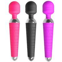 Potente Clitoride Vibratori USB di ricarica Magic Wand vibratore di avoirdupois Massager Wellness sessuale erotici sesso gioca per le donne prodotto adulto