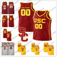 Custom 2020 USC Trojans Баскетбол 21 Oneeka Okongwu 2 Jonah Mathews 31 Ник Ракоцевич 4 Даниэль Утоми Урожай Мужчины Молодежные майки 4XL