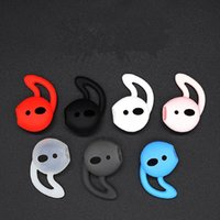 New for AirPods Replacement Soft Silicone Antislip Ear Cover Hook bluetooth Earphone Earbuds Tips Earphone Case protector