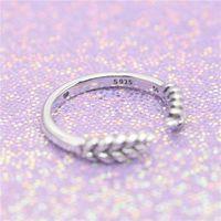 18K желтое золото Кольцо Set Первоначально коробка для Pandora Real 925 Silver Open зерна моды Роскошный подарок кольцо для женщин