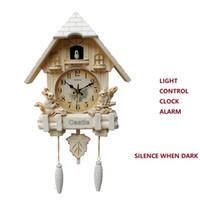 relógio 20inch Cuckoo Música Relógio de parede Crianças Sala Quarto hora Tempo Fale Timekeeping parede Relógio Inteligente design moderno