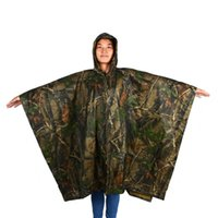 Escursionismo Impermeabile Hooded Maple Leaf Camo Poncho Camping Hiking Jungle rain cover 015