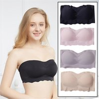 ad71a9c02ab Women s Peyton Seamless Wire Free Strapless Convertible Bra Push Up Tube Top  With Detachable Pad Anti-glare Tube Top Bra Sexy