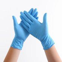 Нитрил Латексные перчатки 100шт / уп Очистка синий нитрил Садовые перчатки резиновые перчатки для очистки порошок нитриловые с покрытием рабочих перчаток для продажи