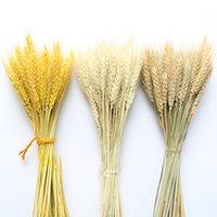 100pcs lot Artificial Wheat Ears Natural Dried Flowers Grain Bouquet for Wedding Party Decoration DIY Craft Scrapbook Home Decor