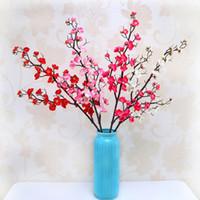 Şeftali Çiçek Yapay Kiraz Bahar Erik Çiçeği Şube Simülasyon Ipek Çiçek Sahte Şube Ev Düğün Dekor Sanat