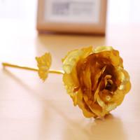 24 كيلو الذهب احباط مطلي روز هدايا الإبداعية تستمر إلى الأبد روز الزهور ل عاشق عرس عيد الحب عيد الأمين الديكور YYS3357