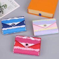 مصمم محفظة جلد محفظة المرأة القصيرة محفظة حامل متعدد الألوان محفظة بطاقة سيدة الكلاسيكية البسيطة زيبر جيب شحن مجاني
