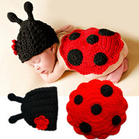 طفل قبعة قبعات الشتاء الوليد الطفل لطيف الحشرات متماسكة الكروشيه الصوف الملابس زي صور التصوير الدعائم