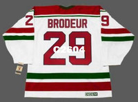 Hombres   29 MARTIN BRODEUR New Jersey Devils 1992 CCM Vintage RETRO Home Hockey  Jersey o 3430fb7d2
