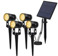 Focos solares paisaje solar impermeable al aire libre luces auto apagado de luces de pared ON / solares para el jardín Camino de entrada Camino