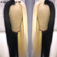 ishow 13 * 4 레이스 정면 가발 인간의 머리카락 레이스 프런트 가발 스트레이트 노란색 녹색 레미 인간의 머리 가발 핑크 레드 블루 퍼플 ombre 가발