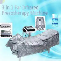 حار بيع 3 في 1 الأشعة تحت الحمراء الأقصى Presotherapy آلة الأشعة تحت الحمراء الليمفاوية الصرف EMS التخسيس آلة تدليك البدلة شحن سريع