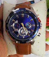 2019 Новый EFR550 EF-550RBSP-1A EF 550RBSP 550 Sports Chronograph Мужские часы 125 модели доступно Секундомер полный стали часы