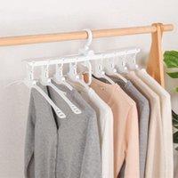 متعدد الطبقات المنزلية 360 درجة دوران تجفيف رفوف متعددة الوظائف خزانة ماجيك شماعات طوي الملابس المعلقون التخزين DH1029