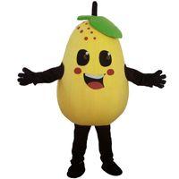 Halloween gul päron maskot kostym toppkvalitet tecknad frukter päron anime tema tecken jul karneval party kostymer
