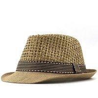 New Boy Strohhut-Baby-Hut-Kind-Jazz-Kappen-Wannen-Hut-Sommer-Hut für Mädchen Panama-Hut Fotografie Props 48-52cm
