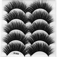 G819 estilo 5 en 1 3D de imitación de pelo de visón pestañas falsas 20mm largo del estilo hecha a mano hecha pestañas-Extensión de pestañas falsas gruesas