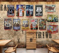 Route 66 Photos Peinture Plaque Collection En Métal Vintage Style Home Decor Coffee Bar Assiettes Décoration Vintage Signes De Tôle 20 * 30 CM