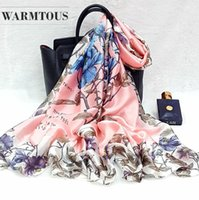 2019 Women Silk scarf Beach Shawl and Echarpe summer Wrap De...