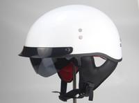 TKOSM casco de la motocicleta Cascos Para Moto abierto mitad de la cara Casco Moto Jet Vintage Capacetes de Motociclista con la lente dual