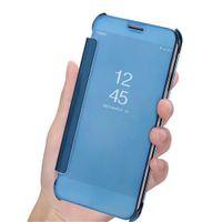 Super Clear Cover Case pour Samsung Galaxy S9 Plus miroir de luxe Clear View Flip Smart