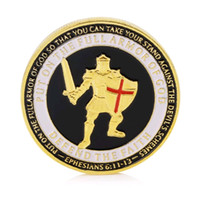 GLSY Armor of God High Relief Challenge Coin Gold Plated Dep...