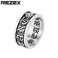 2021 Neue Herren Hohe Qualität Ring Breite Mode Marke Titanium Stahl Kreuz Ring Vintage Edelstahl Ringe Trend Herren Hip Hop Ringe Juwelr