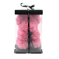 Yeni 25 cm Teddy Gül Çiçek Ayı Hediye Kutusu Düğün Noel Dekorasyon Sevgililer Günü Bir Kız Arkadaşına GIF Ver