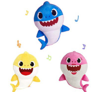 3 Color 30cm(11. 8inch) Baby shark With Music Cute Animal Plu...