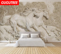 Decorate home 3D mural horse cartoon art wall sticker decora...