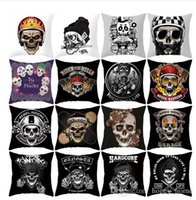Honey home Skull Printing Decorative Pillowcase Black and Wh...