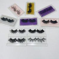 25mm 3D Lashes Pestañas de piel de visón con 3d 5d / imitación de visón pestañas / pestañas sintéticas suave de lujo de la etiqueta privada