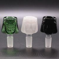Ciotole in vetro colorato di 3 colori per il fumo del tabacco Bong. 14mm.