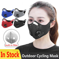 Cycling Mask with pm2. 5 Filter Breathing Valve Earloops Dust...