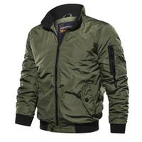 Bomber Jacket Zipper Casual Male Streetwear Hip Hop Slim pilota Cappotto Uomo Abbigliamento Uomo Autunno Inverno antivento Jacke Plus Size