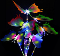 Girls Led Flashing Light Fairy Butterfly Wing Wand Headband Costume best Christmas gift lowest price 2019 Hot sale SN4037