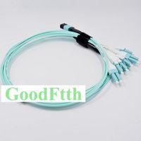 Patch fibre cordon-LC FTU Uniboot avec tirette bar OM3 12 Cores GoodFtth 5pcs / lot