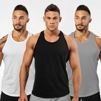 2019 moda erkekler rahat yelek yaz spor vücut geliştirme kolsuz tişört gömlek erkek nefes spor tişört vücut ter emici spo