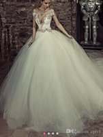 Vintage Crystals Wedding Dresses Beaded Neck Backless Bridal...