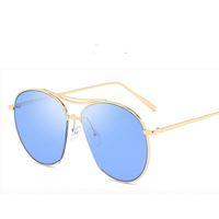 Trend versione coreana degli stessi occhiali da sole e occhiali da sole GM di occhiali da sole di moda da uomo in metallo