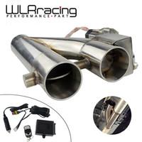 """WLR - universale in acciaio inox 304 da 2,5"""" / 3"""" Elettrico Scarico Pluviale ritaglio E-cut-out Dual-Valvola a distanza senza fili"""