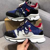 Kutu ile Womens Erkek Casual Ayakkabı Lüks Tasarımcı Spike Kırmızı Alt Sneaker Mesh Patchwork Mat Deri Chaussures Espadrilles Plaka-forme