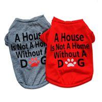 أزياء مستلزمات الحيوانات الأليفة الكلب الملبس جرو القطن التي شيرت القط الكلب ملابس تي شيرت 2 ألوان 4 الأحجام