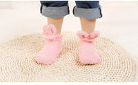 Autumn and winter new coral Plush thickened baby socks three...