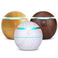 Enfriar USB Aroma difusor ultrasónico luz humidificador de vapor purificador de aire cambio de 7 colores LED de la noche para la oficina en casa