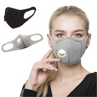 조절 가능한 스트랩과 통기성 밸브 남여 파티 호흡기 마스크와 PM2.5 오염 절반 입 마스크 방진 패션 스폰지 얼굴 마스크