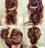 Mode Vintage Gold Silber Blattform Metall Haarspangen Frauen Elegante Haarnadeln Haarspangen Mädchen Stirnbänder Dame Haarschmuck GB548